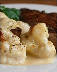 Slimming products - cauliflower with liver