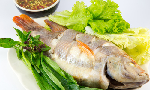Steamed stuffed fish