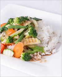 vegetables with rice