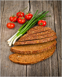 bread with vegetables