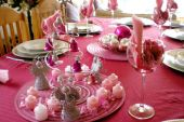 Festive table setting for the New Year