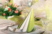 Table decoration with napkins