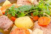 Decorating dishes with herbs