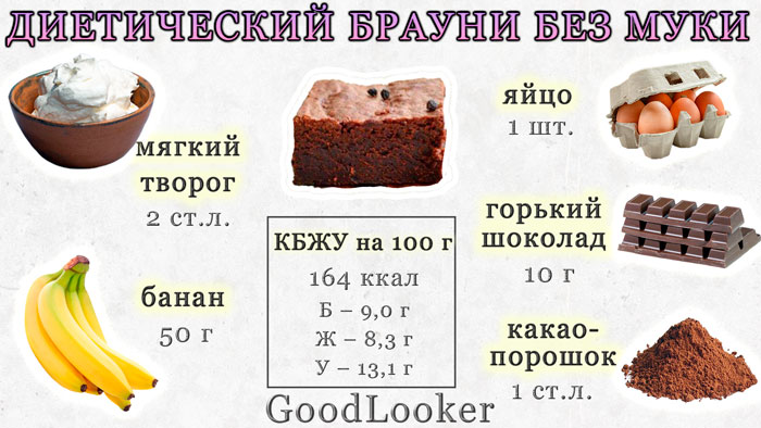 Diet brownie without flour