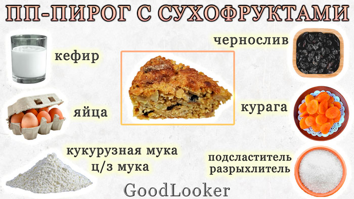 PP cake with dried fruits