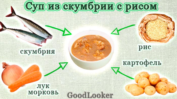 Mackerel soup with rice